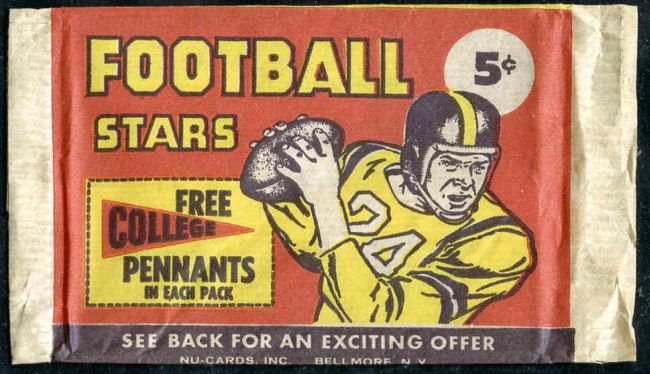 1961 Nu-Cards Football Wrapper