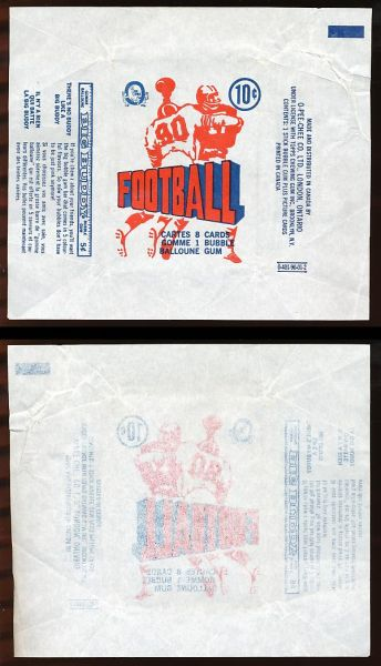 1970 O-Pee-Chee CFL Wrapper