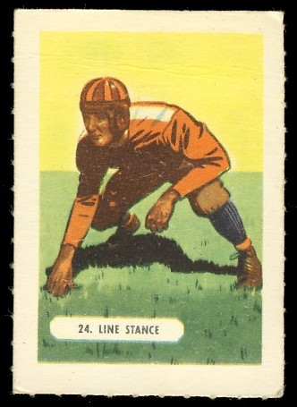 40K 1940s Kelloggs All-Wheat Football 2-24 Line Stance