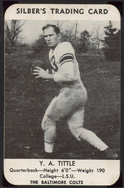 49SB 1949 Silber's Bakery Colts Y A Tittle