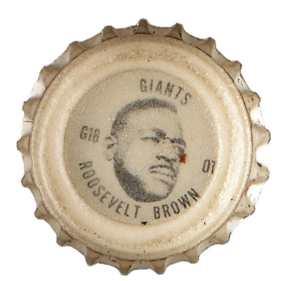 65C 1965 Coke Bottle Caps G1 Roosevelt Brown