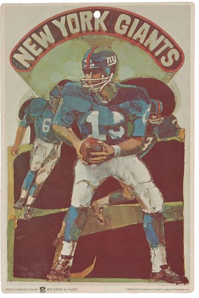 68FBS 1968 Fleer Big Signs New York Giants