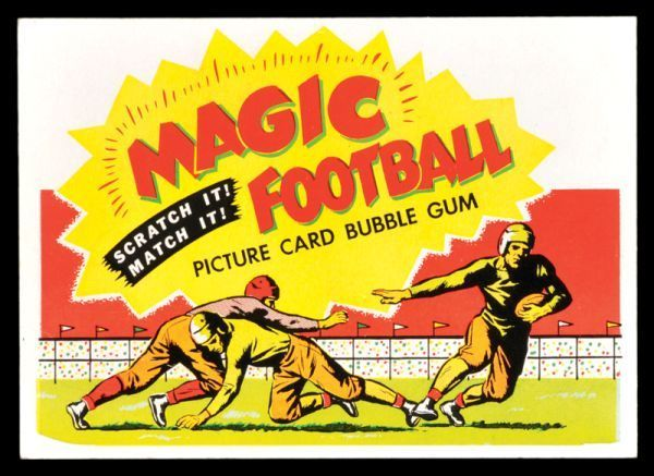 AP 1951 Topps Magic Football