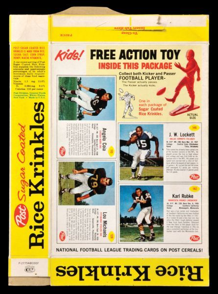 BOX 1962 Post Cereal Football