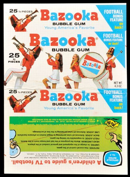BOX 1972 Bazooka Football