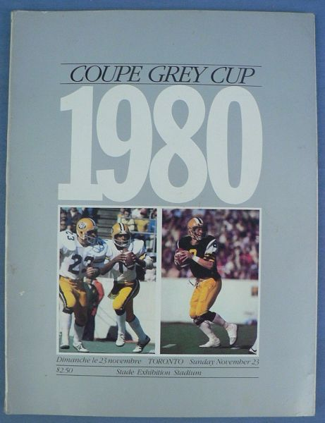 P80 1980 CFL Grey Cup Program
