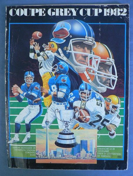 P80 1982 CFL Grey Cup Program