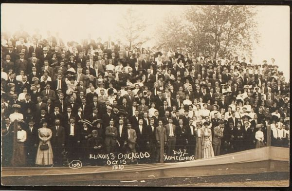 PC 1911 Real Photo U of I Homecoming 1910