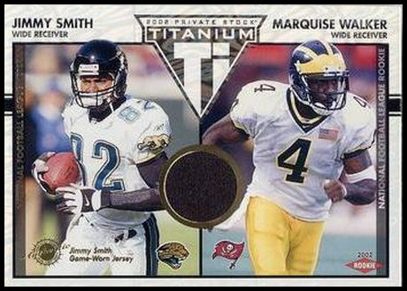 134 Jimmy Smith Marquise Walker RC, MEM, SN500