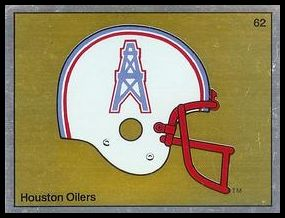 62 Houston Oilers Helmet FOIL