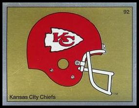92 Kansas City Chiefs Helmet FOIL