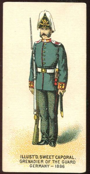 Grenadier of the Guard Infantry Germany 1886